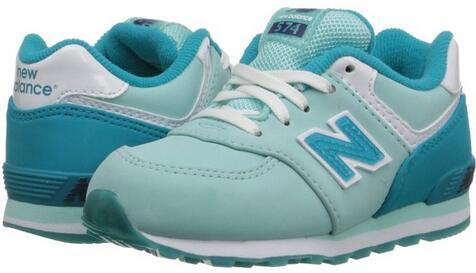 New Balance KL574 Grade Lace Glacial Running Shoe (Toddler/Little Kid/Big Kid)