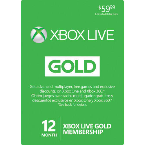 $37.99 Microsoft Xbox LIVE 12 Month Gold Membership Card for Xbox 360 / XBOX ONE