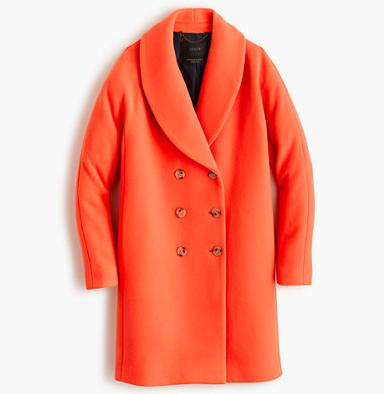 THE SHAWL-COLLAR COAT IN STADIUM-CLOTH