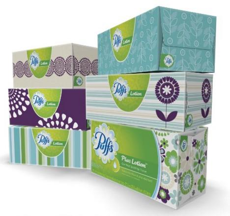 $6.47 Puffs Plus Lotion Facial Tissues; 6 Family Boxes; 124 Tissues per Box