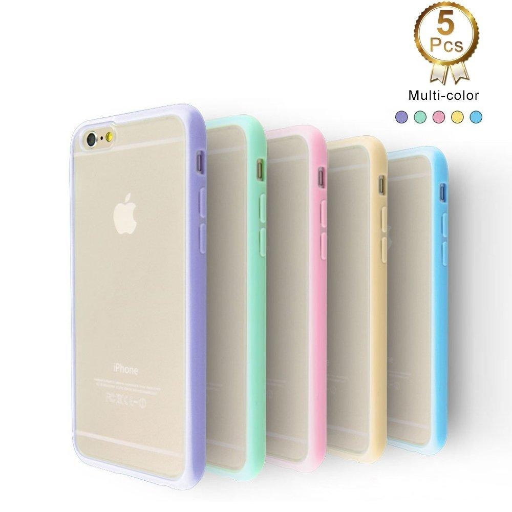 5-Pack Ace Teah Ultra Thin Crystal Clear Back Panel Case for iPhone 6