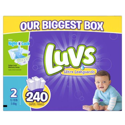 $27.38 Luvs Ultra Leakguards Diapers, One Month Supply