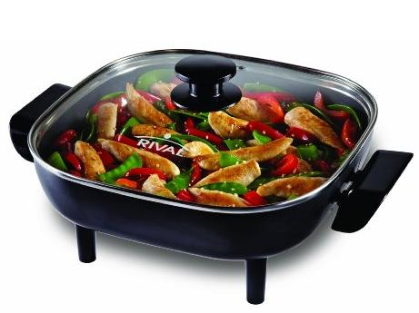 Rival CKRVSK11 11-Inch Square Electric Skillet, Black @ Amazon