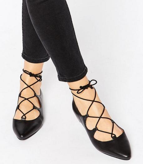 Topshop 'Fancy' Pointy Toe Ghillie Flat On Sale @ Nordstrom