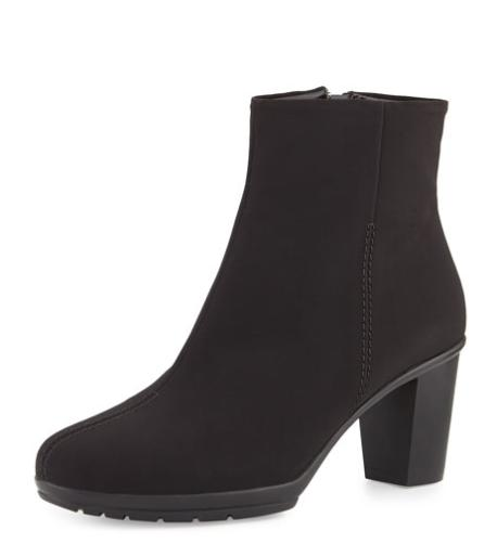Sesto Meucci Rayna Waterproof Ankle Boot, Black @ Neiman Marcus