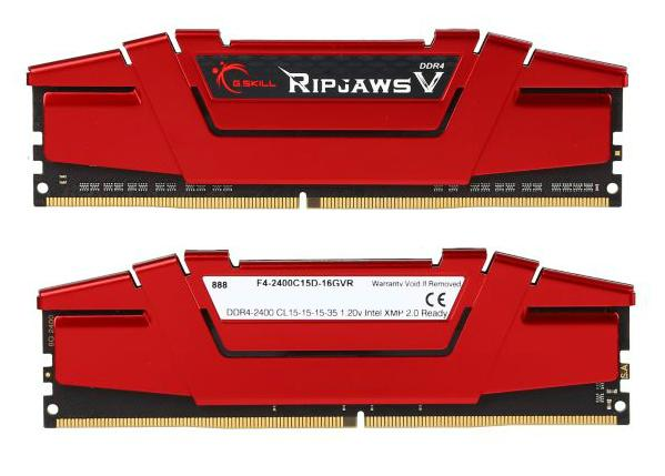 G.SKILL Ripjaws V Series 16GB (2x8GB) DDR4 2400 Desktop Memory