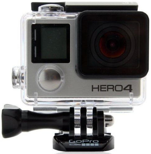 $289 GoPro HERO4 Silver Edition Action Camcorder CHDHY-401 Built in LCD Display