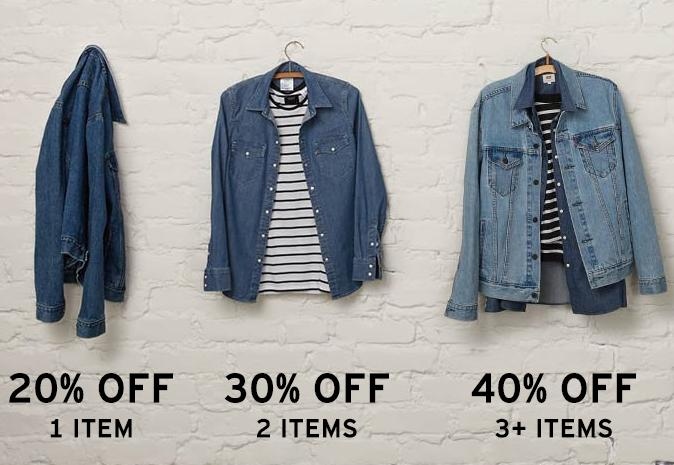 Up to 40% Off + Free Shipping Shirts ,Jeans & Jackets Sale @ Levis
