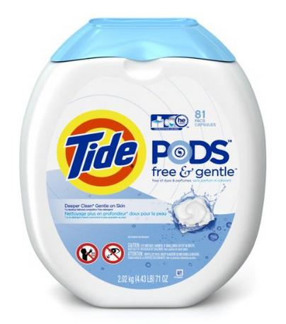 $12.44 Tide PODS Free & Gentle HE Turbo Laundry Detergent Pacs 81-load Tub