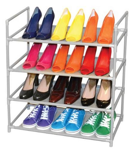 $12.99 Pro-Mart DAZZ 4-Tier Shoe Rack, Steel