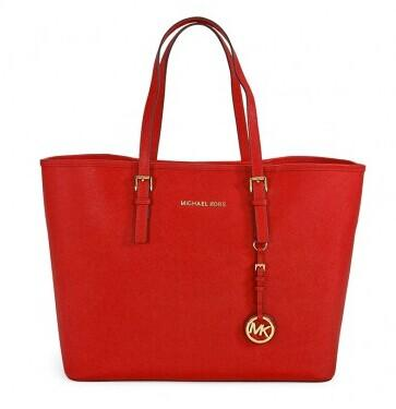 MICHAEL KORS Saffiano Leather Medium Travel Tote @ JomaShop.com