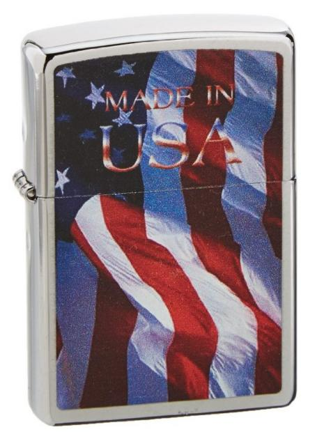 Zippo American Flag Lighters @ Amazon