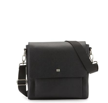 Ike Behar Small Messenger Bag, Black @ Neiman Marcus
