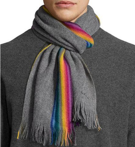Paul Smith Rainbow Stripe Wool Scarf @ Neiman Marcus