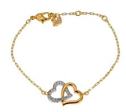 SWAROVSKI Interlocking Crystal Hearts Match Bracelet @ JomaShop.com