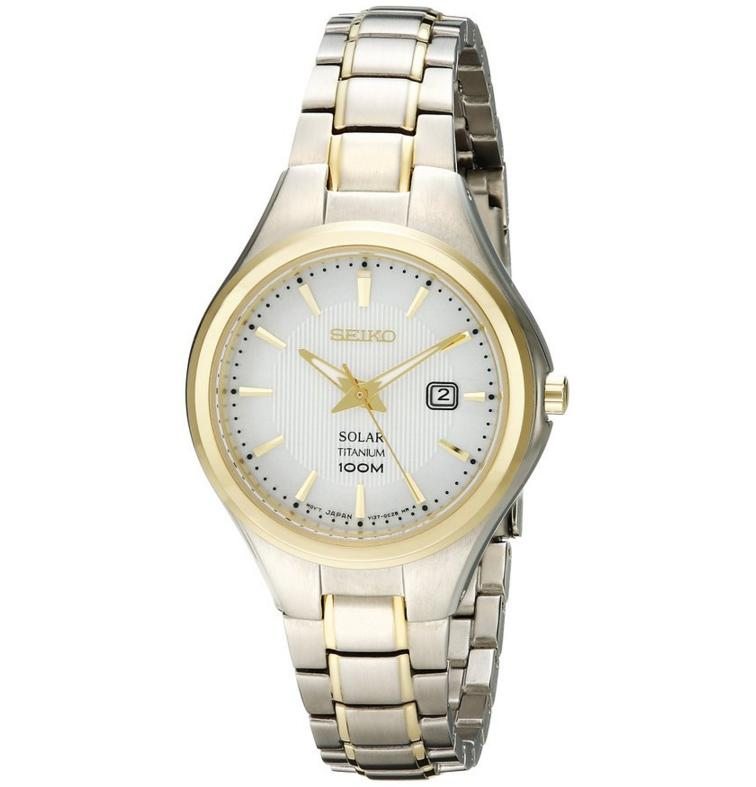 Seiko Women's SUT206 Analog Display Analog Quartz Two Tone Watch