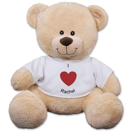 Personalized I Heart You Teddy Bear - 11