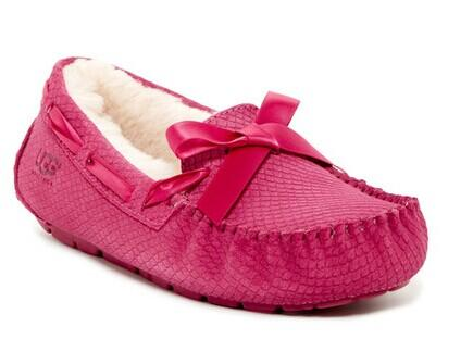 UGG Australia Dakota Exotic Scales Genuine Sheepskin Suede Slipper @ Nordstrom Rack