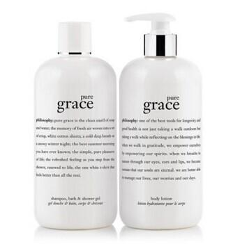 Free pure grace shampoo & body lotion with Any $65 Purchase @ philosophy