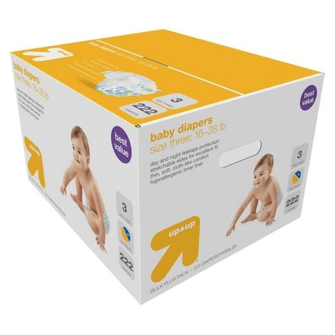 FREE $30 GIFT CARD 2 x up & up Diapers Bulk Plus Pack