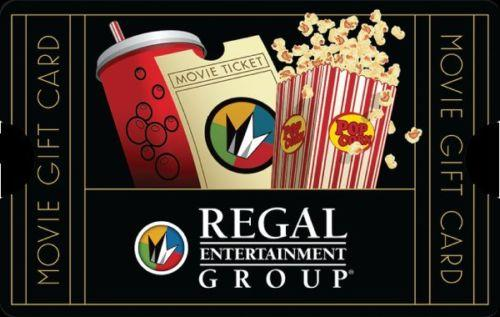 $40 $50 Regal Entertainment Group Gift Card