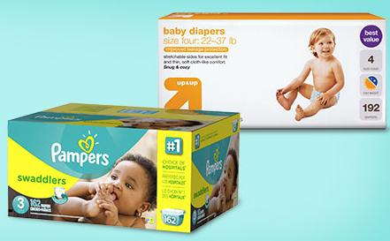 FREE $30 GIFT CARD 2 x Select Diapers @ Target