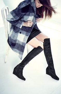 Stuart Weitzman Over-The-Knee Wedge Boots