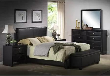 $199.98 Ireland King Faux Leather Bed