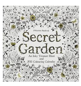 $3.74 Secret Garden 2016 Wall Calendar: An Inky Treasure Hunt and 2016 Coloring Calendar