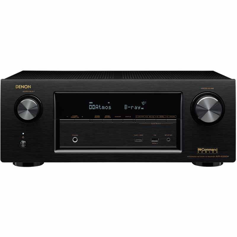 Denon 7.2 Channel Full 4K Ultra HD Network A/V Receiver with Wi-Fi and Bluetooth