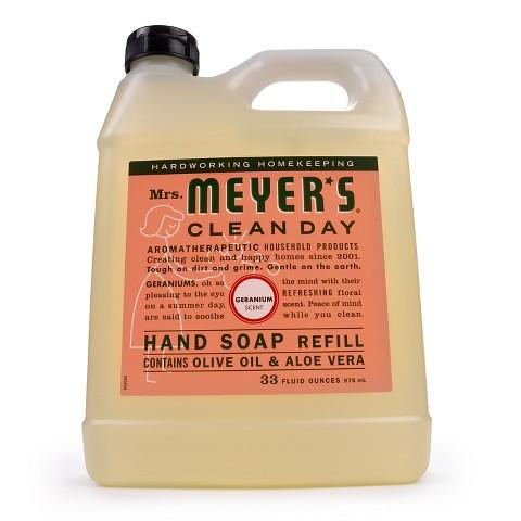 $3.99 Mrs. Meyer's Hand Soap Geranium Refill 33oz