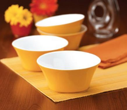 $9.99 Rachael Ray Dinnerware Round & Square 4-Piece Cereal Bowl Set
