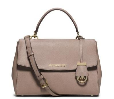 MICHAEL MICHAEL KORS  Ava Medium Saffiano Leather Satchel