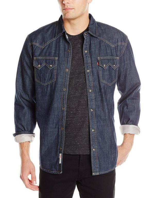 $17.83 Levi's Men's Heywood Denim Long Sleeve Shirt