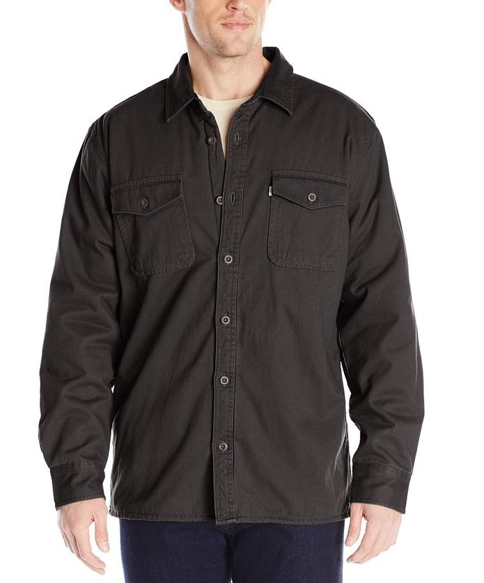 Levi's Men's Rittner Long Sleeve Twill Sherpa Lined Shirt Jacket