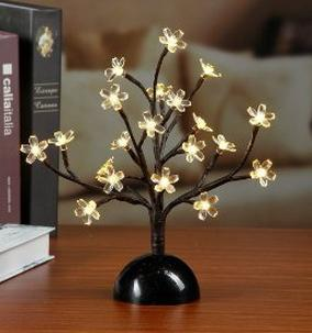 Lightshare 13Inch 20LED Cherry Blossom Bonsai Light,Warm Light