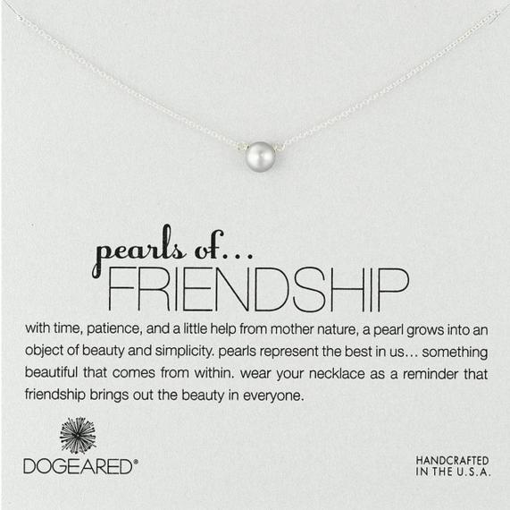$25.00 Dogeared Pearls of Friendship Silver Grey Necklace