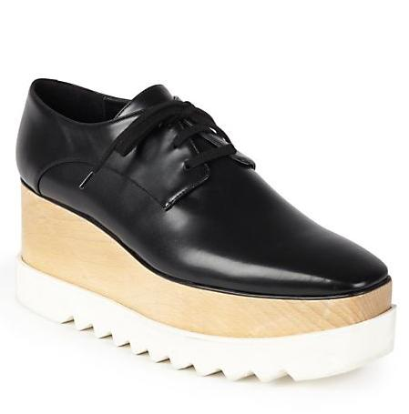 $995 +$100 GIft Card Stella McCartney Faux Leather Triple Sole Lace-Up Shoes @ Saks Fifth Avenue