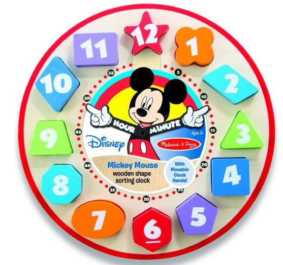 $9.97 Mickey Mouse Wooden Shape Sorting Clock @ Amazon
