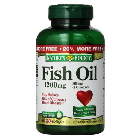 $6.43 Nature's Bounty Fish Oil 1200mg , 120-Count, Omega 3