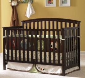 $98.68 Graco - Freeport Classic Convertible 4-in-1 Crib, Classic Cherry @ Amazon