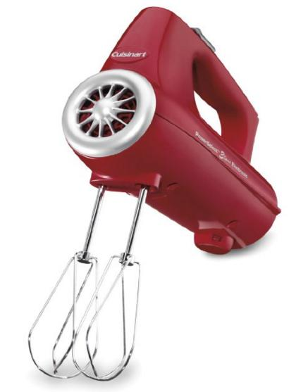 Cuisinart CHM-3R Electronic Hand Mixer 3-Speed, Red @ Amazon