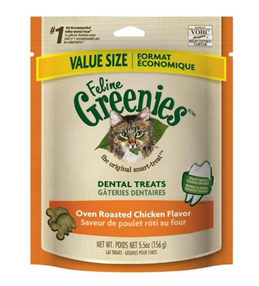 #1 Best seller! FELINE GREENIES Dental Treats for Cats