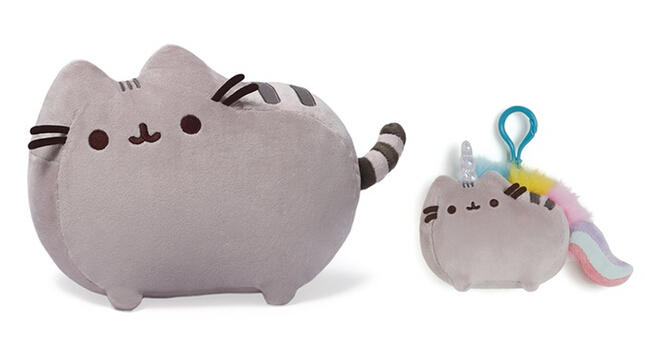 Pusheen the cat Plush Toy and Backpack Clip Set