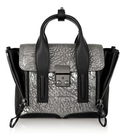 3.1 PHILLIP LIM The Pashli mini textured-leather trapeze bag On Sale @ Net-A-Porter