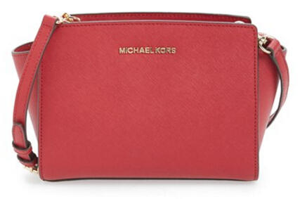 MICHAEL Michael Kors 'Medium Selma' Saffiano Leather Crossbody Bag