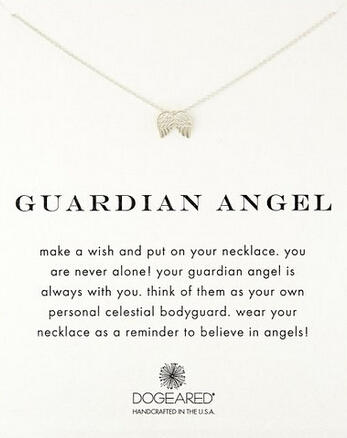 Dogeared Reminders Guardian Angel Wing Charm Necklace, 18