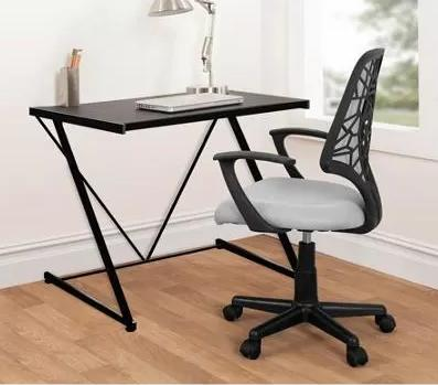 Urban Shop Z-Shaped Student Desk, Black