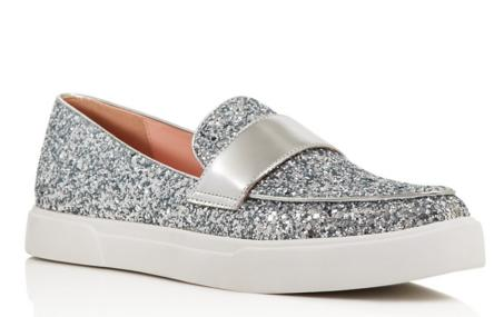 kate spade new york Clove Glitter Slip On Sneakers