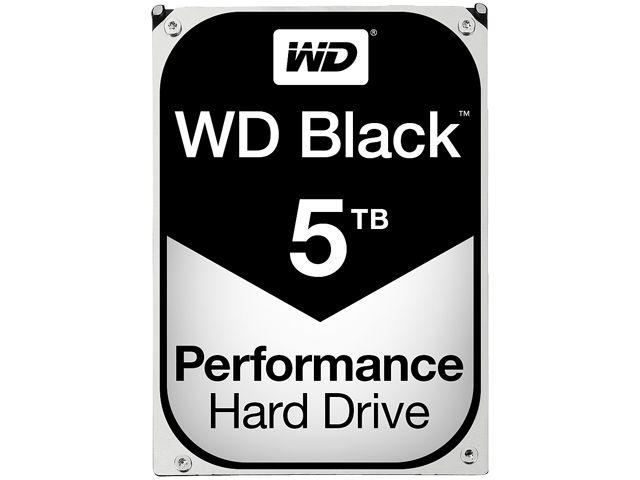 WD Black 5TB Performance Desktop Hard Disk Drive - 7200 RPM 128MB Cache